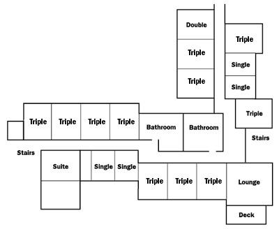 Floor plan for residence halls