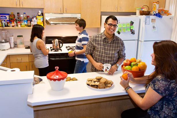 Students in Kresge Apartment