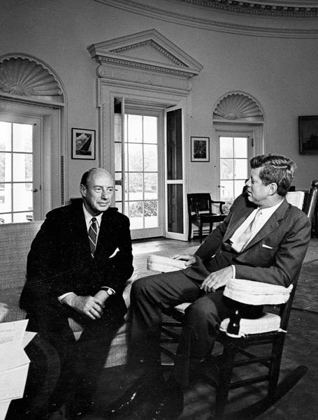 Adlai E. Stevenson and JF Kennedy