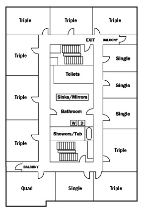 Residence Hall Floor Plan